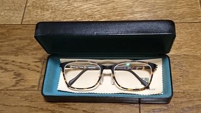 初遠近両用メガネ『眼鏡市場』ウェリントン眼鏡_c0364960_21072554.jpg