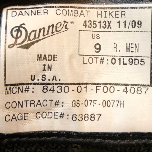 アメリカ仕入れ情報#73 10/6入荷! Danner COMBAT HIKER !_c0144020_11500638.jpg