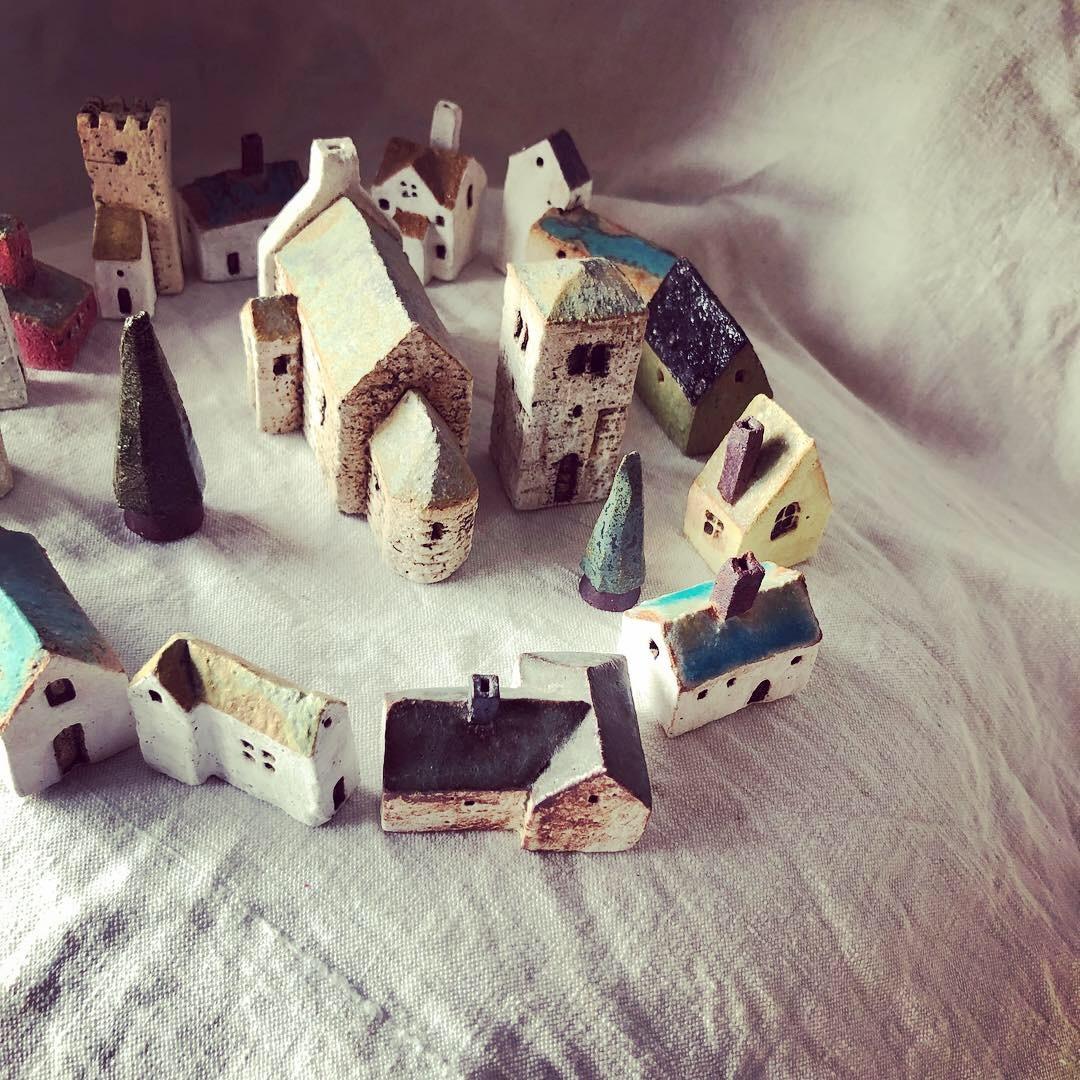 ふしぎかわいいものたち展part2出品作品〜街や村、教会、城、神殿など〜_a0137727_10460773.jpeg