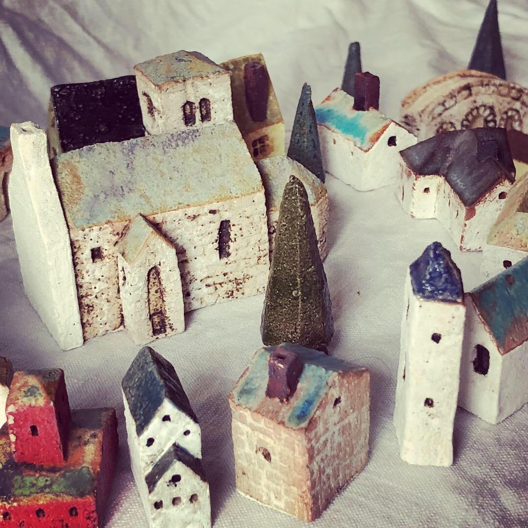 ふしぎかわいいものたち展part2出品作品〜街や村、教会、城、神殿など〜_a0137727_10465994.jpeg