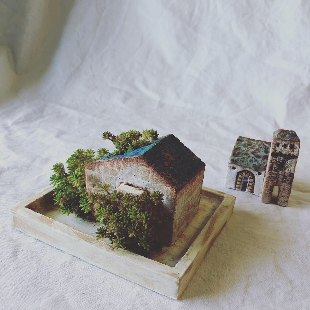 ふしぎかわいいものたち展part2出品作品〜街や村、教会、城、神殿など〜_a0137727_10573001.jpeg