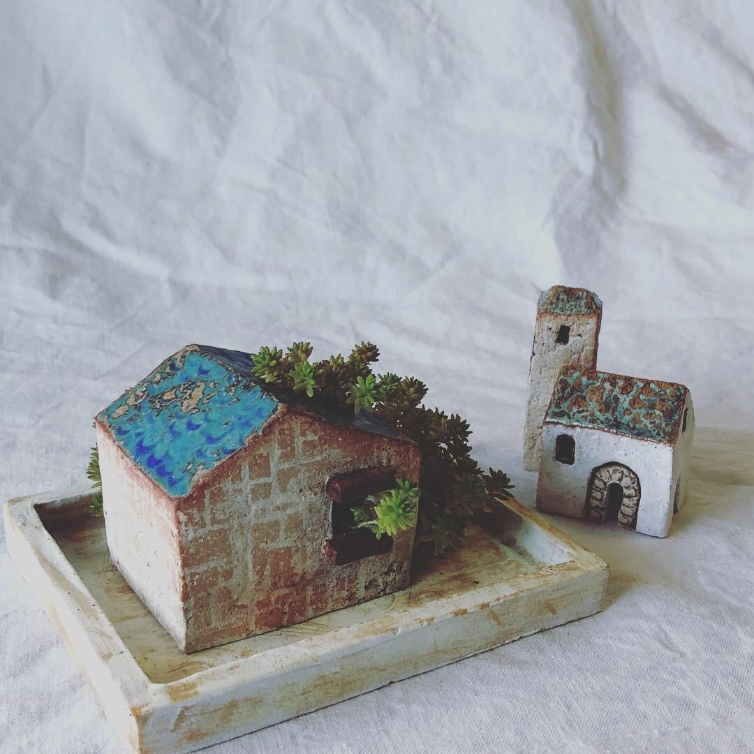 ふしぎかわいいものたち展part2出品作品〜街や村、教会、城、神殿など〜_a0137727_10575830.jpeg
