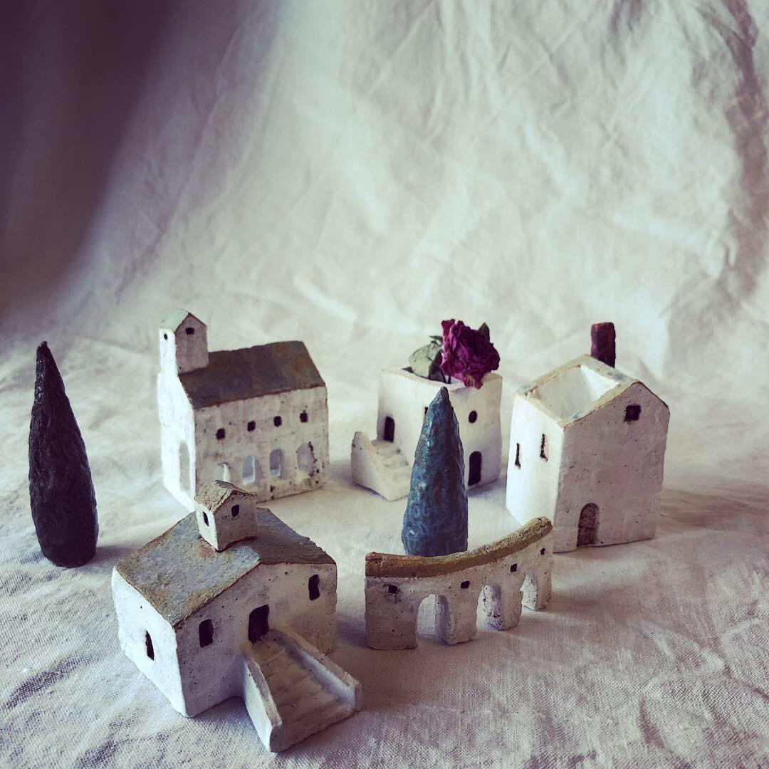 ふしぎかわいいものたち展part2出品作品〜街や村、教会、城、神殿など〜_a0137727_11024713.jpeg