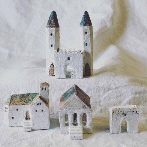 ふしぎかわいいものたち展part2出品作品〜街や村、教会、城、神殿など〜_a0137727_11134461.jpeg