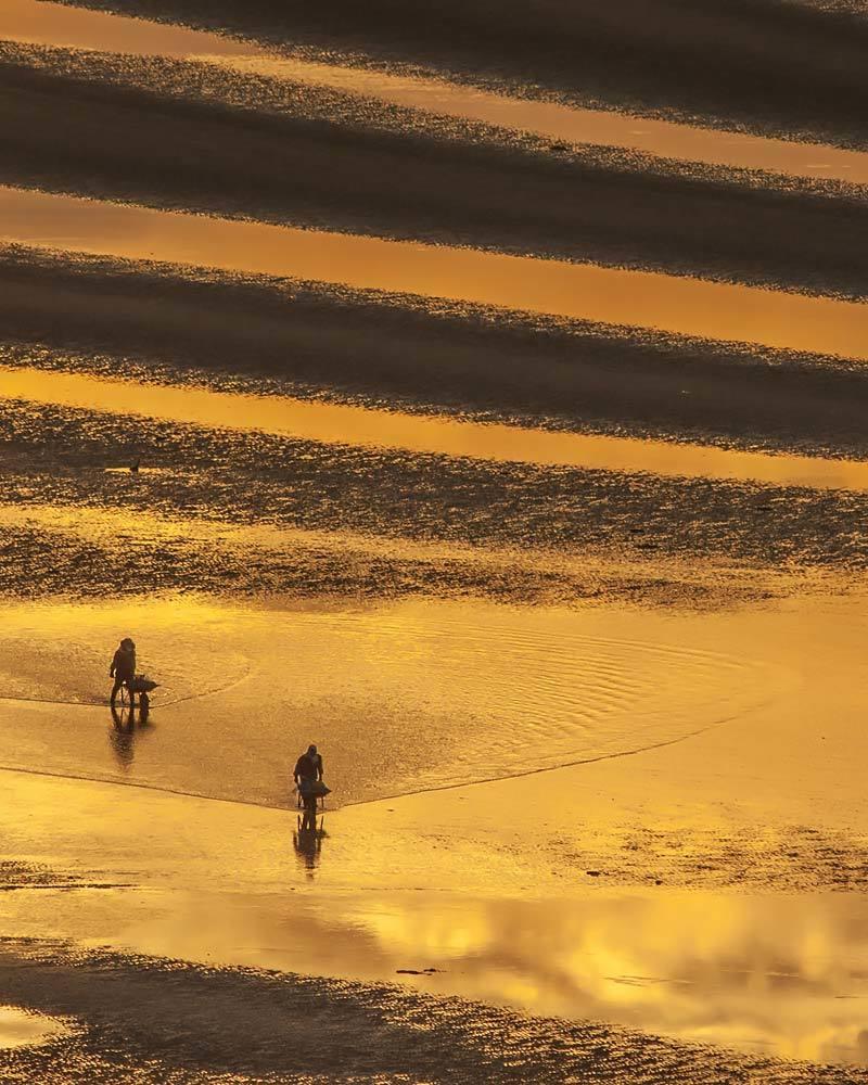 夕景 回想⑤)御輿来海岸の砂紋様=熊本県宇土市_d0238245_14031316.jpg