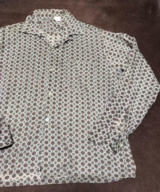 11月8日(月)入荷!60s 小紋柄 オープンカラー ボックスシャツ!_c0144020_15350297.jpg