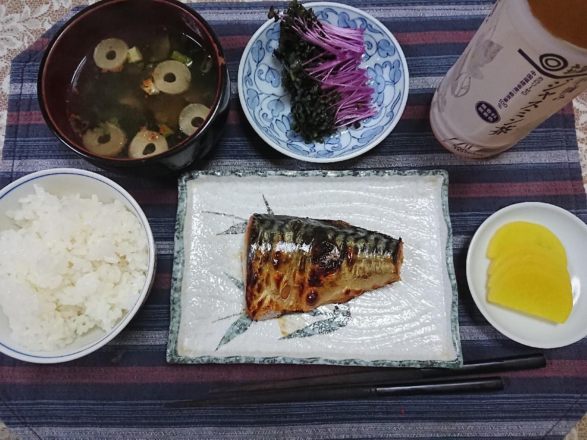10/8  新米で焼塩鯖定食@自宅_b0042308_07064858.jpg