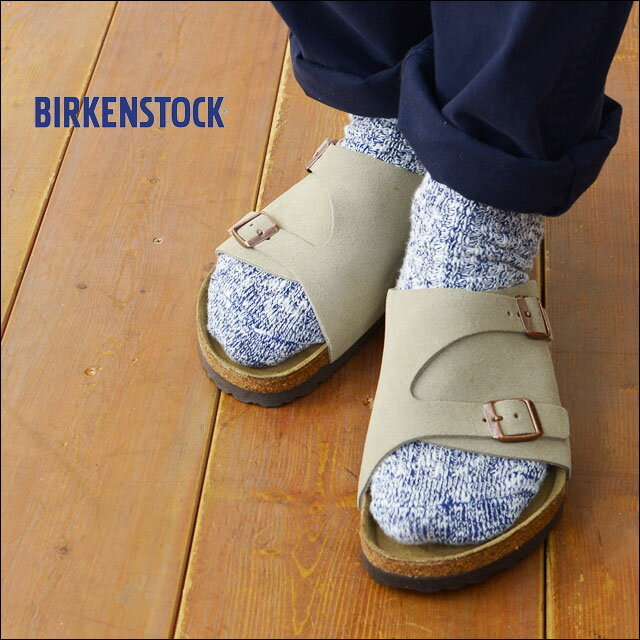BIRKENSTOCK [ビルケンシュトック正規販売店] ZURICH SOFT FOOTBED TAUPE [GC1009532] 本革 ベロア【ワイズ レギュラータイプ】チューリッヒ MEN\'S_f0051306_18110568.jpg