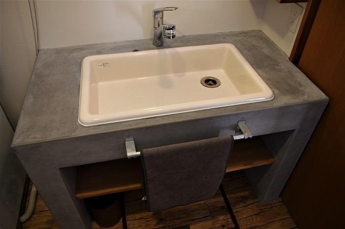 伊那市で設計事務所の家づくり  『モルタル仕上げの洗面台』 _b0146238_08325426.jpg