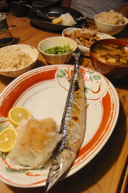 秋刀魚の塩焼き_f0054859_16213558.jpg