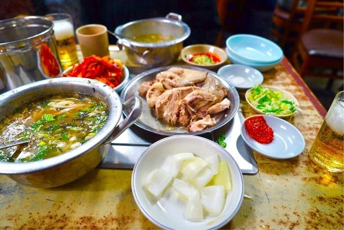 ソウルの鶏出汁スープ麺、タッカルグクスを真似て。_a0223786_14212036.jpg