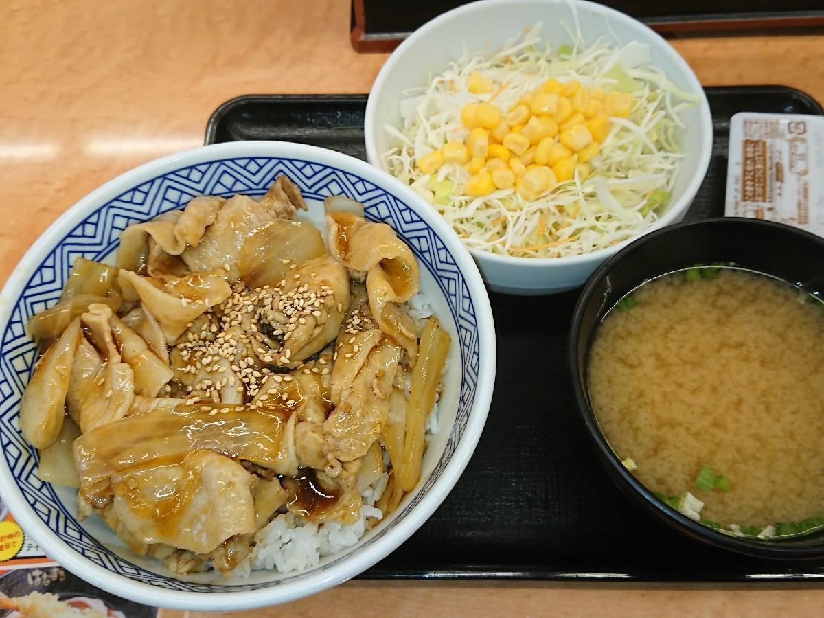 10/10  豚丼新味並Aセット¥480 ⇒ ¥400 @吉野家_b0042308_14355097.jpg