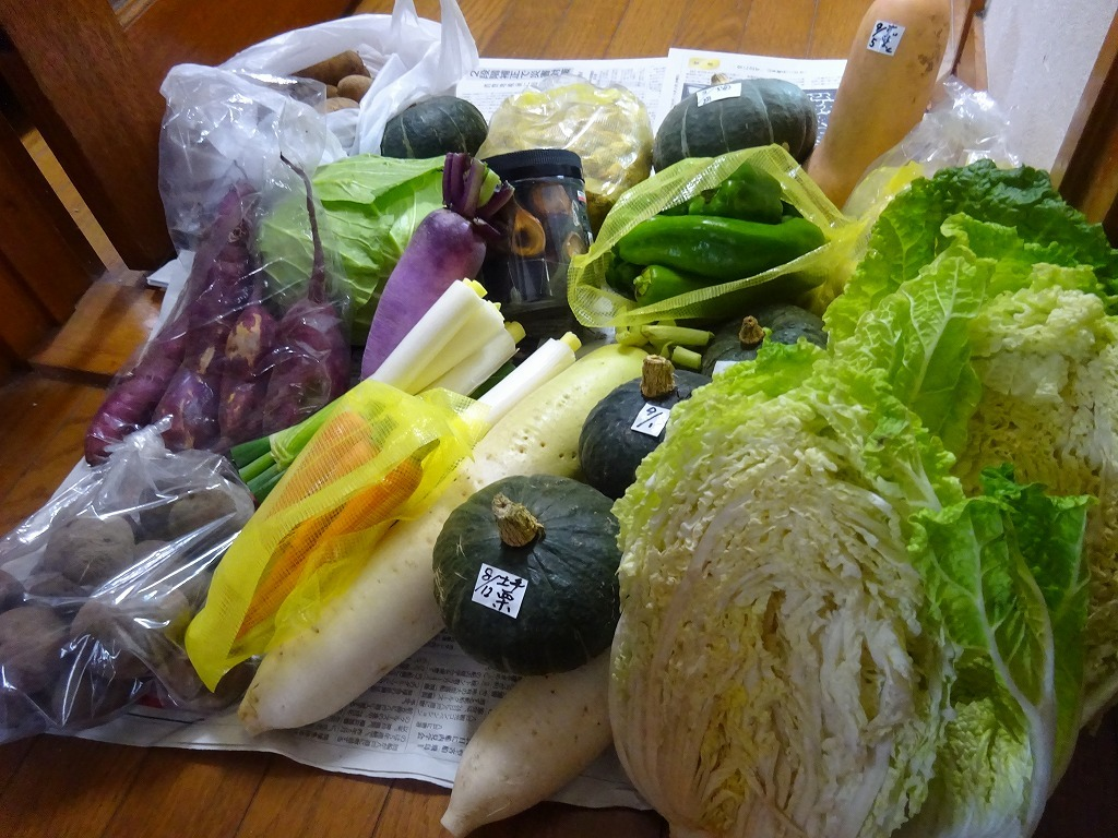 実家からの野菜2018 第三段!大根大きいでしょ!BY母親_d0061678_15321276.jpg