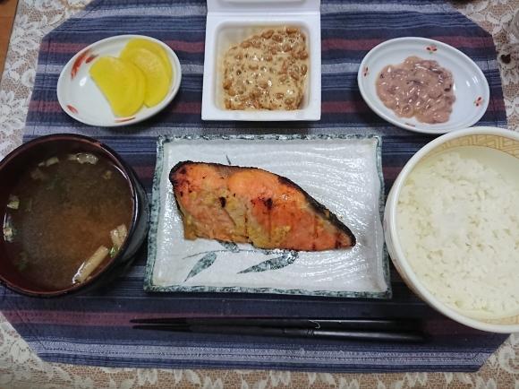 10/11 新米で銀鮭西京味噌焼定食@自宅_b0042308_10365617.jpg