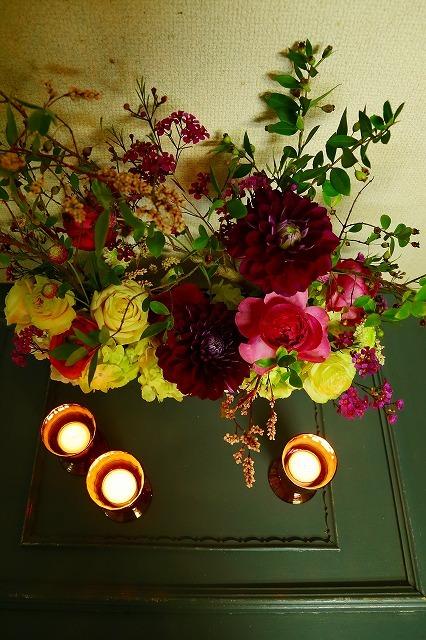 10月の一会マンスリーレッスン キャンドルと器と花を自分でコーディネイトしよう&持って帰っていいよ_a0042928_19553912.jpg