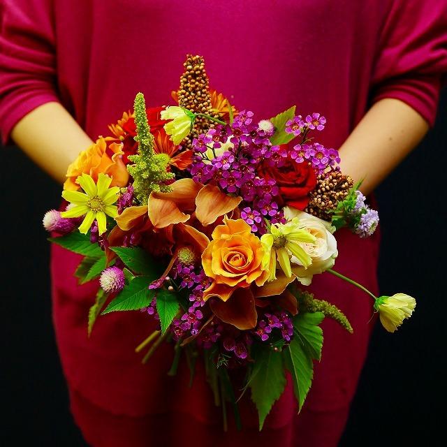 10月の一会マンスリーレッスン キャンドルと器と花を自分でコーディネイトしよう&持って帰っていいよ_a0042928_19560947.jpg