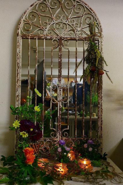 10月の一会マンスリーレッスン キャンドルと器と花を自分でコーディネイトしよう&持って帰っていいよ_a0042928_19562574.jpg