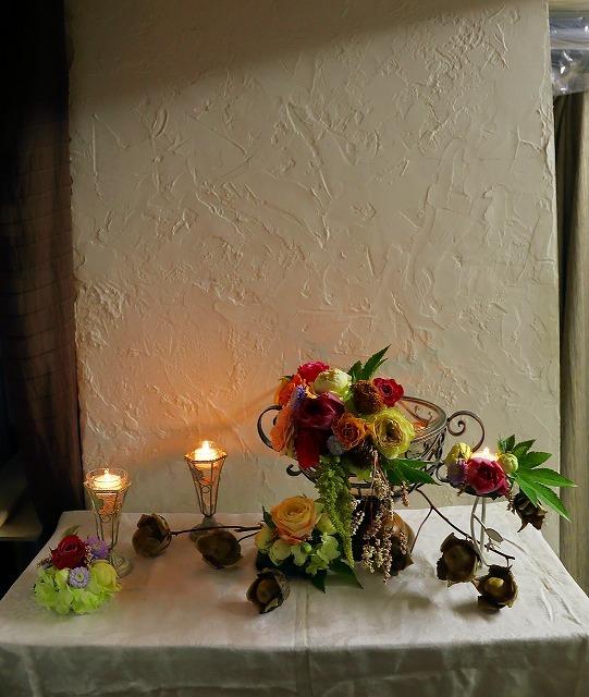 10月の一会マンスリーレッスン キャンドルと器と花を自分でコーディネイトしよう&持って帰っていいよ_a0042928_19572761.jpg