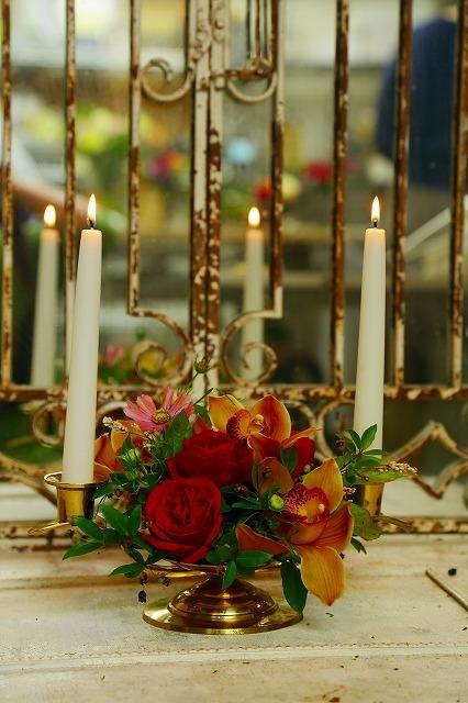 10月の一会マンスリーレッスン キャンドルと器と花を自分でコーディネイトしよう&持って帰っていいよ_a0042928_19584707.jpg