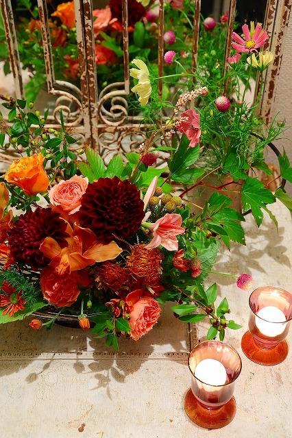 10月の一会マンスリーレッスン キャンドルと器と花を自分でコーディネイトしよう&持って帰っていいよ_a0042928_20061120.jpg