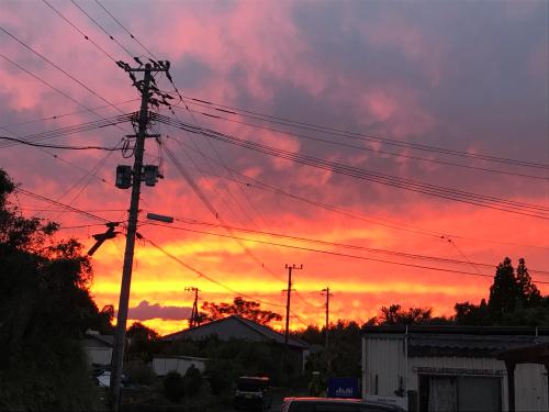 綺麗な夕焼け。_d0163247_17562807.jpg