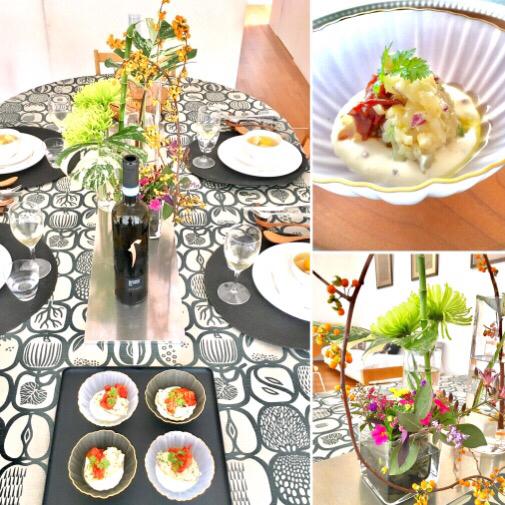 10月 料理教室 ホタテ貝柱の焼きタルタル 秋鮭と栗のナージュ 四万十地栗のモンブラン風_e0134337_11425750.jpg