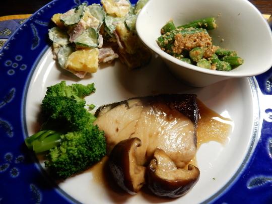 '18,10,12(金)ブリの煮魚とセスキで拭き掃除!_f0060461_09203434.jpg