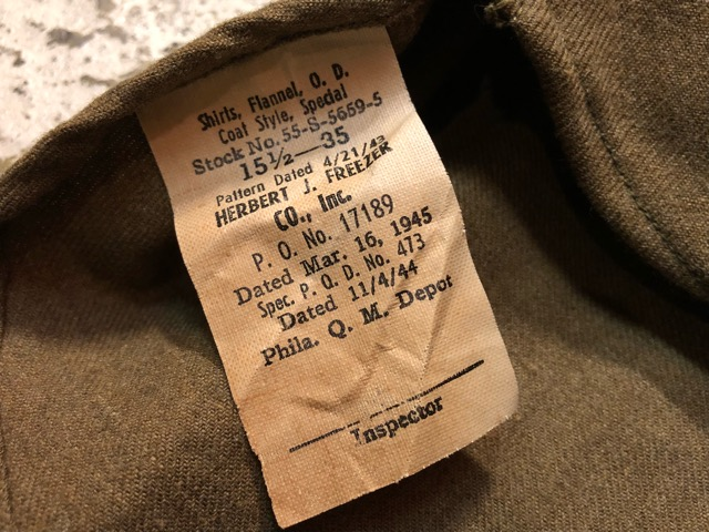 10月13日(土)大阪店ラボラトリー入荷!#7 U.S.Military編 Part1 Army,Navy,MC! NOS M-1943 Special!!(大阪アメ村店)_c0078587_14524413.jpg