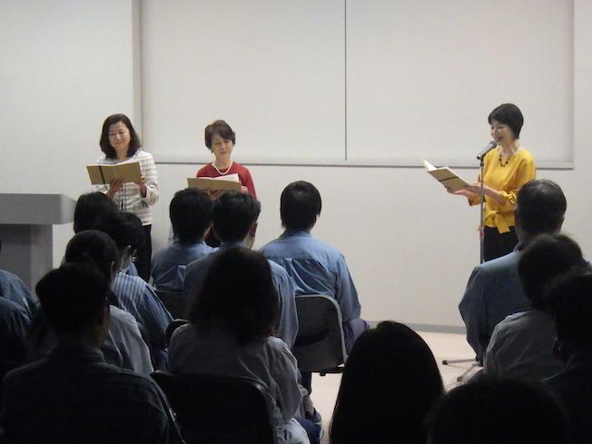 昭和電工で社員研修朗読会_e0088256_16303386.jpg