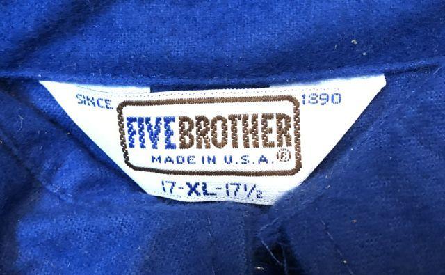 10/15(月)入荷!80s デッドストック シャモアクロス FIVE BROTHERS フランネルシャツ!_c0144020_14234694.jpg