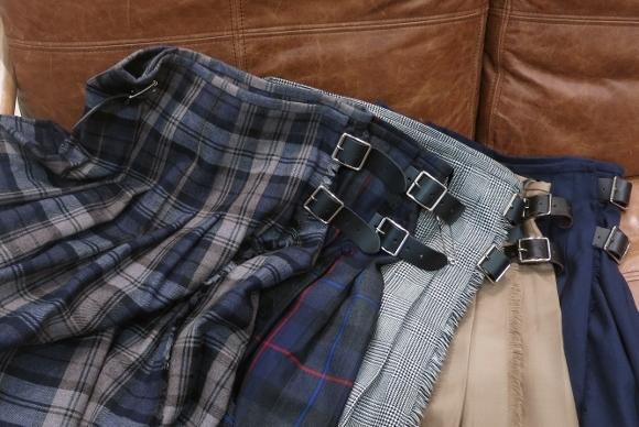 2018年 オニールオブダブリン ウール3個ベルトキルトスカートです。_c0227633_15352704.jpg