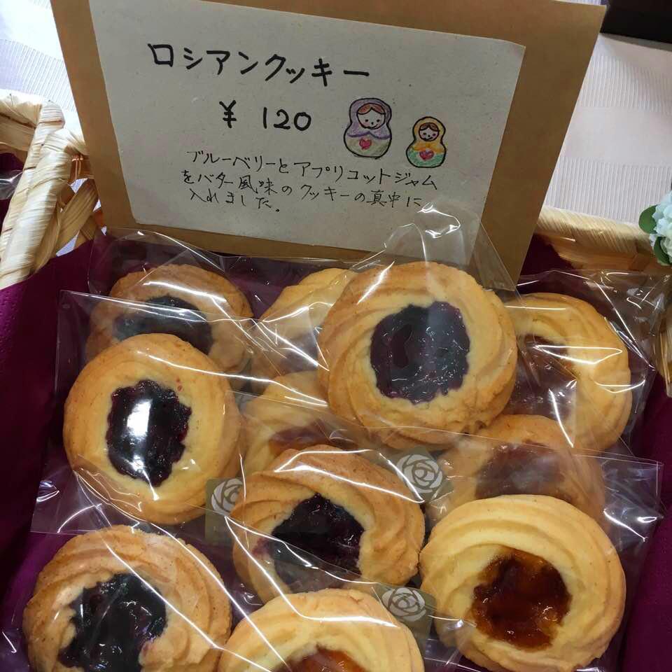 駒場バラ会のお菓子_a0094959_01060538.jpg