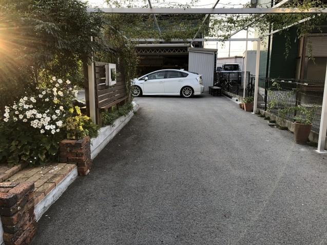 10月の庭「庭入り口の白色秋明菊が見頃になりました」_a0243064_19061415.jpg