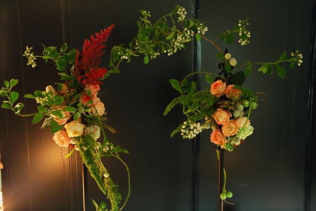 一会定期レッスン10月16日昼 キャンドルと器と花のコーディネイト、自分で選ぶ花のレッスン_a0042928_14144441.jpg
