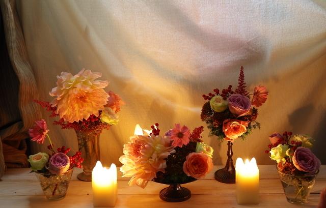 10月16日夜、キャンドルと器と花を自分で選ぶレッスン 11月レッスン増発のお知らせ_a0042928_14495636.jpg
