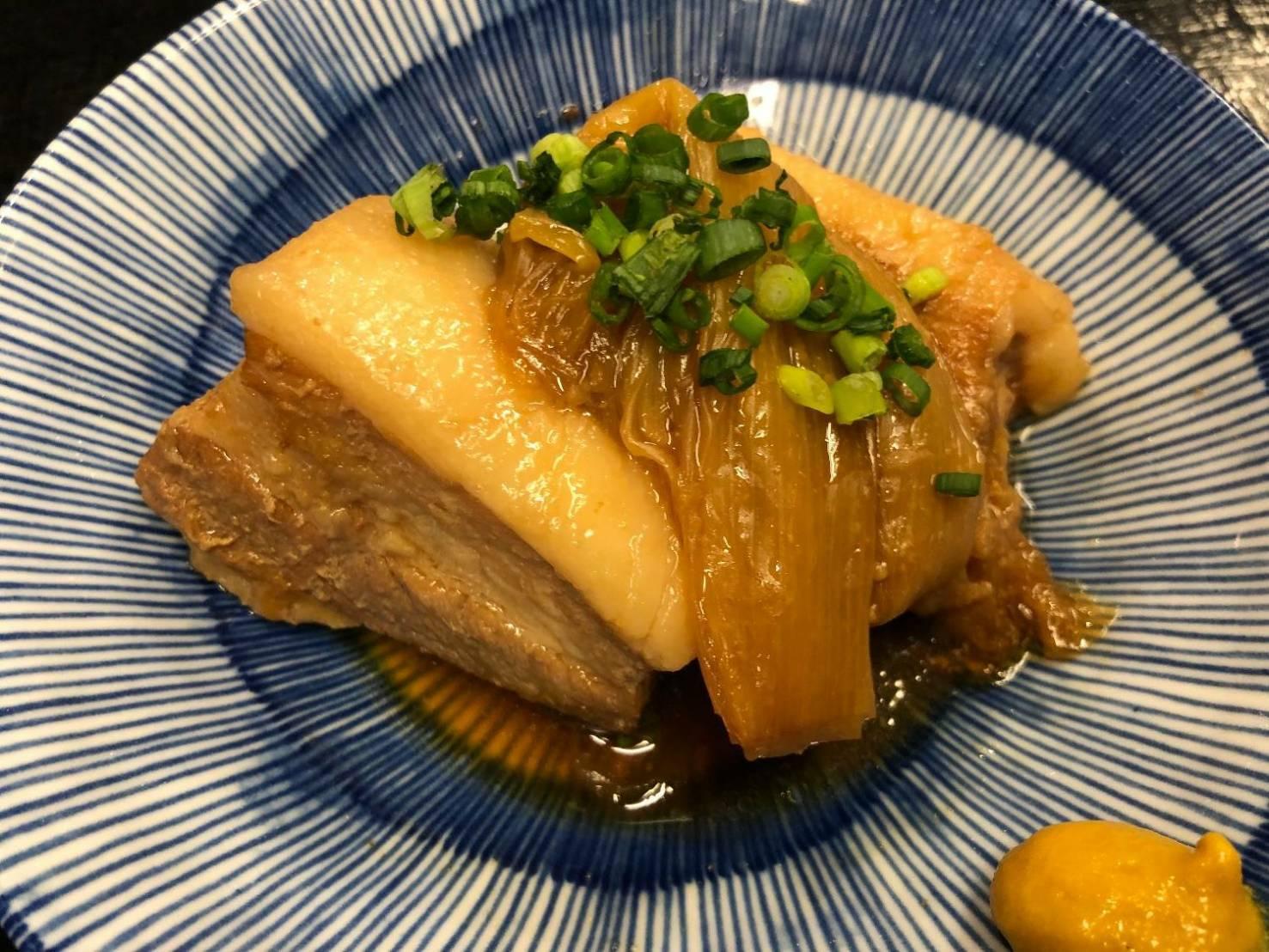 豚肉とネギの角煮_f0157910_12140807.jpg
