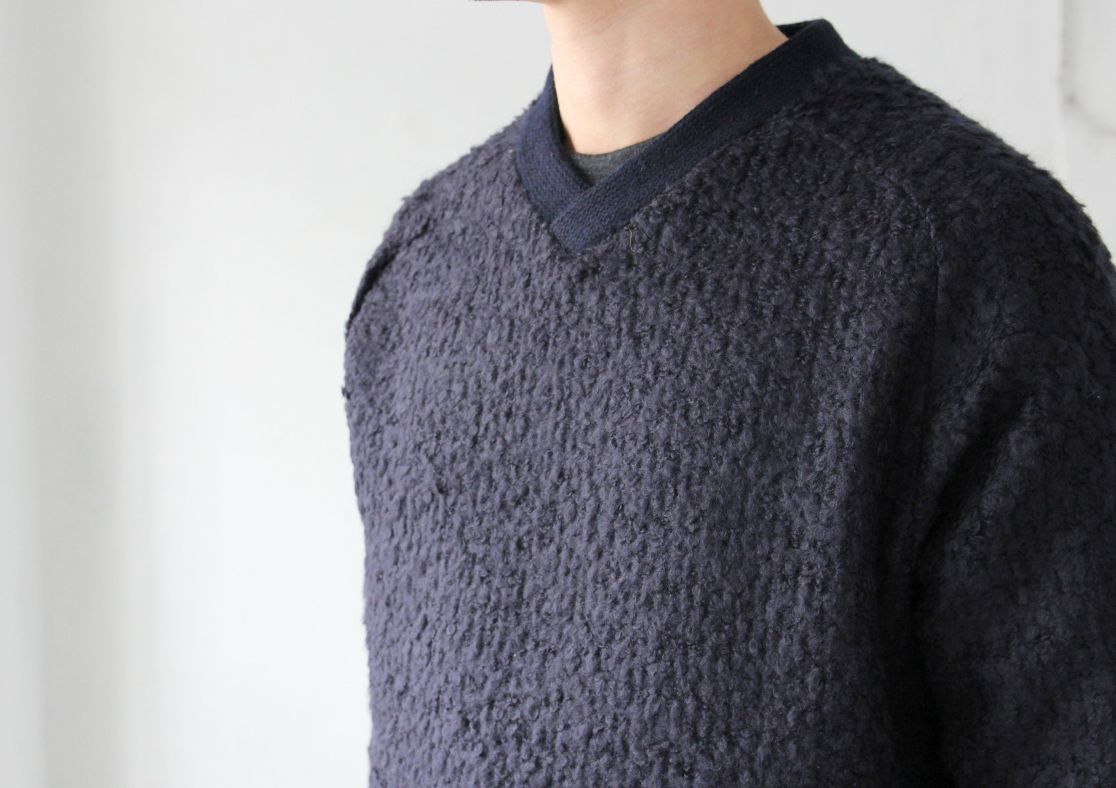 Wool Ring Small V Pull Over_c0379477_14515751.jpg