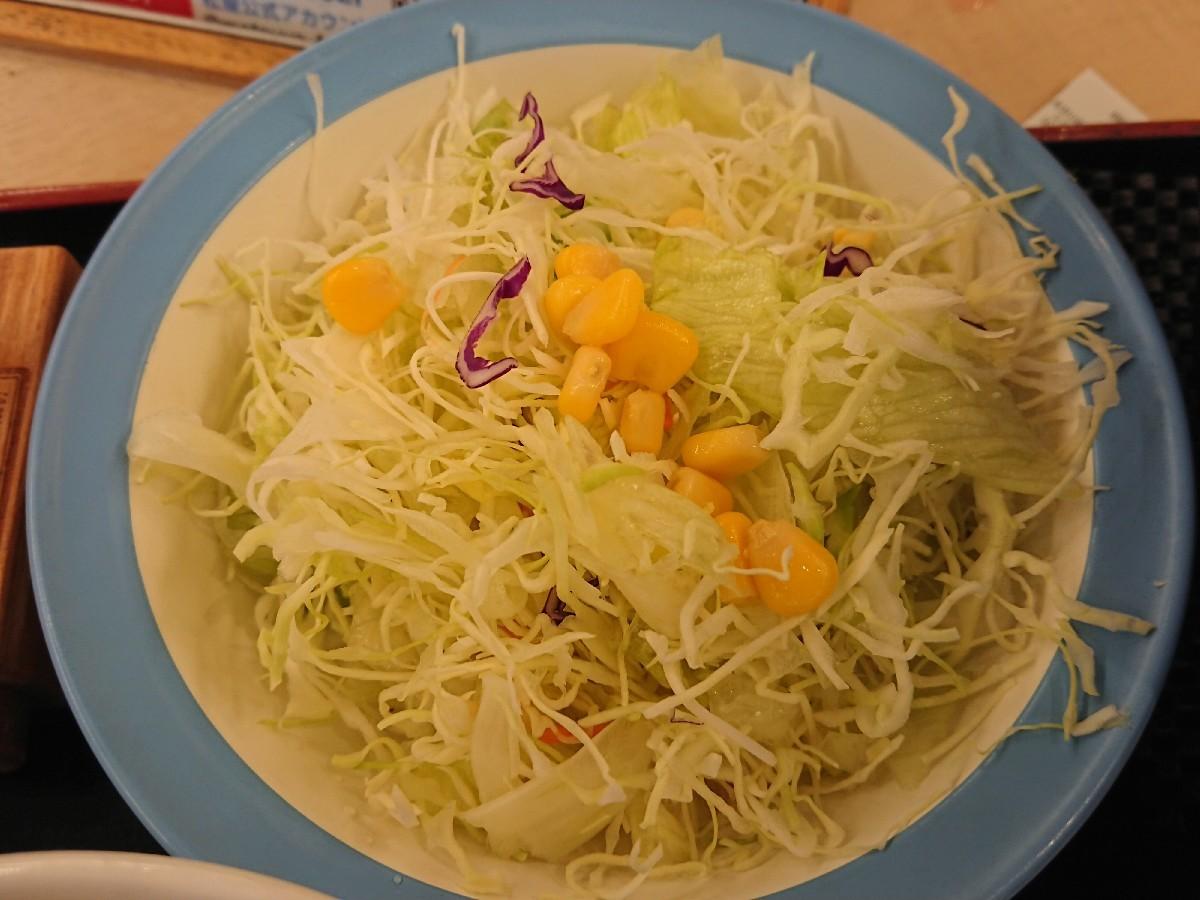 10/20  得朝ミニ牛めし豚汁セット¥430 + 生野菜¥110 @松屋_b0042308_07165073.jpg