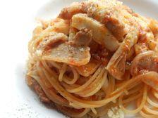 10/20本日パスタ:豚肉とエリンギのトマトソース・スパゲティ_a0116684_12022239.jpg