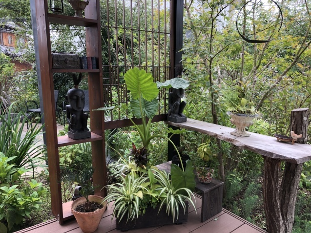 10月の庭「ガーデンハウス辺りの様子」_a0243064_08274395.jpg