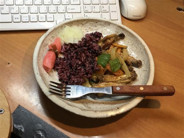 夕飯は手羽の野菜炒め_e0166355_19082728.jpg