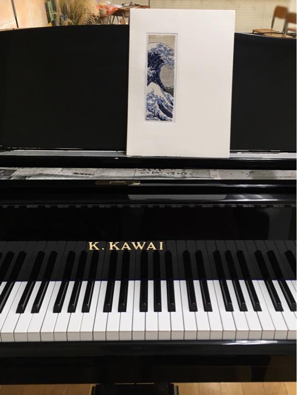 楽譜の表紙に     Hokusai    The Great Wave ②_a0374562_04593304.jpg