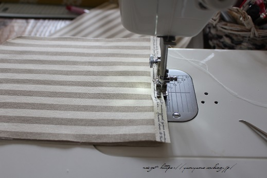 【デコレクションズ】制作中のバッグとハンドメイドにお勧めなリボンテープ♪_f0023333_19494825.jpg