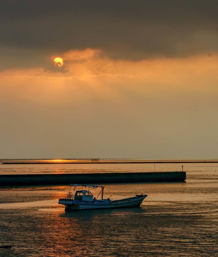 夕景 回想⑳)夕暮れの河内港周辺=熊本県熊本市_d0238245_11150126.jpg