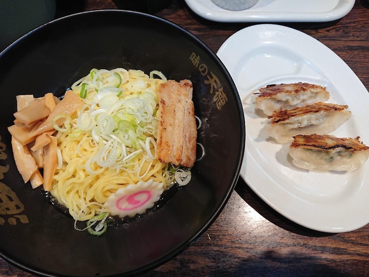 10/25  味の天徳高幡不動店  油そば塩味 & 餃子3個 合計¥690_b0042308_19104428.jpg