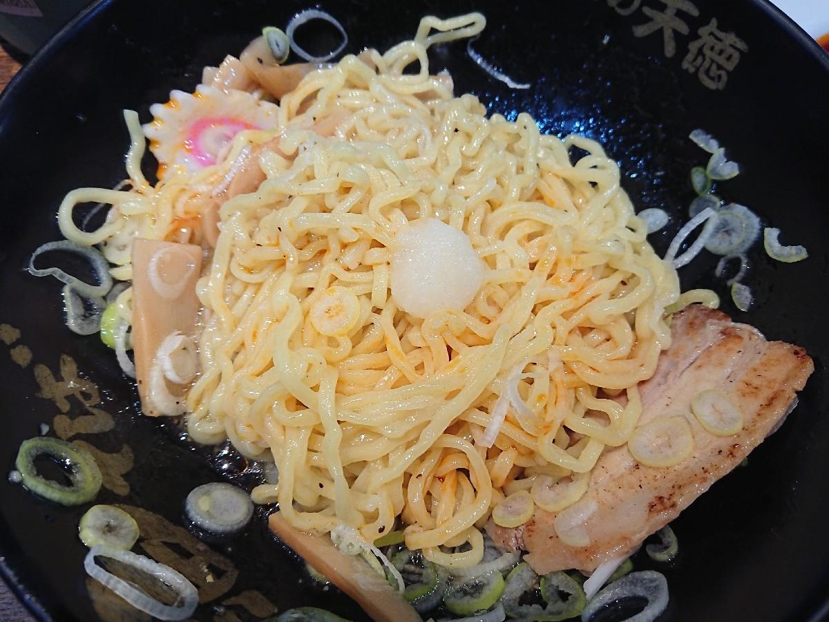 10/25  味の天徳高幡不動店  油そば塩味 & 餃子3個 合計¥690_b0042308_19104514.jpg