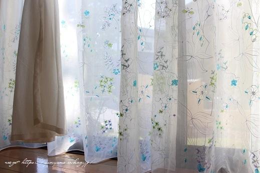 【オーダーカーテン】お洒落な刺繍入りレースカーテンでリビングの模様替え♪_f0023333_22263459.jpg