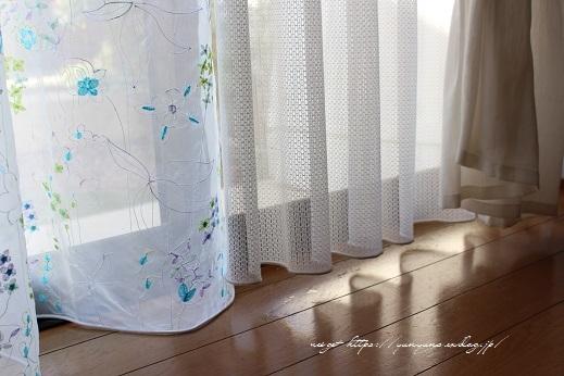 【オーダーカーテン】お洒落な刺繍入りレースカーテンでリビングの模様替え♪_f0023333_22263991.jpg