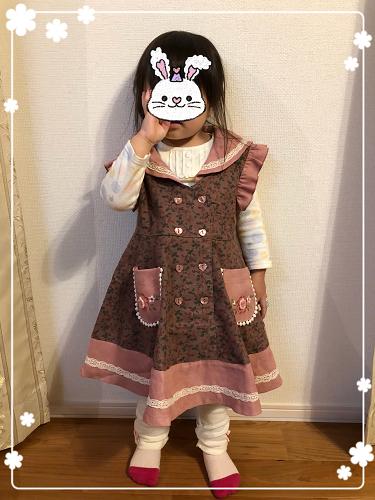 スーリーのセーラーカラージャンパースカート&しまむら。_f0108346_23142924.jpg