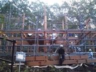那須平和郷でのティンバーフレームプロジェクト12_d0059949_11183903.jpg